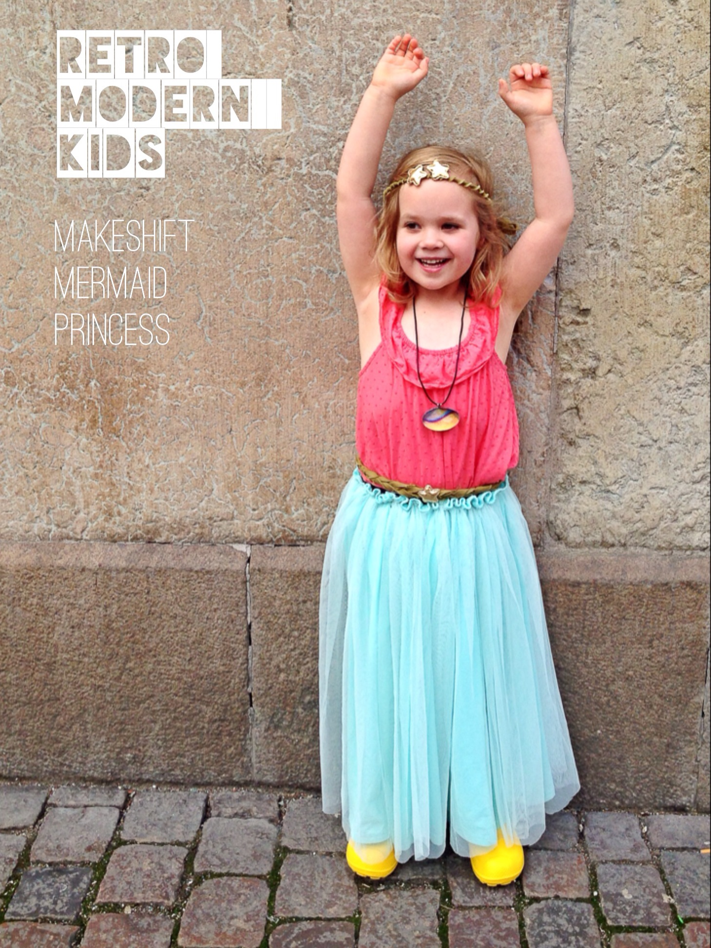 Makeshift Mermaid Princess costume by Retro Modern Kids