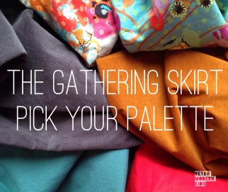 warm cool palettes for gathering skirt by retro modern kids